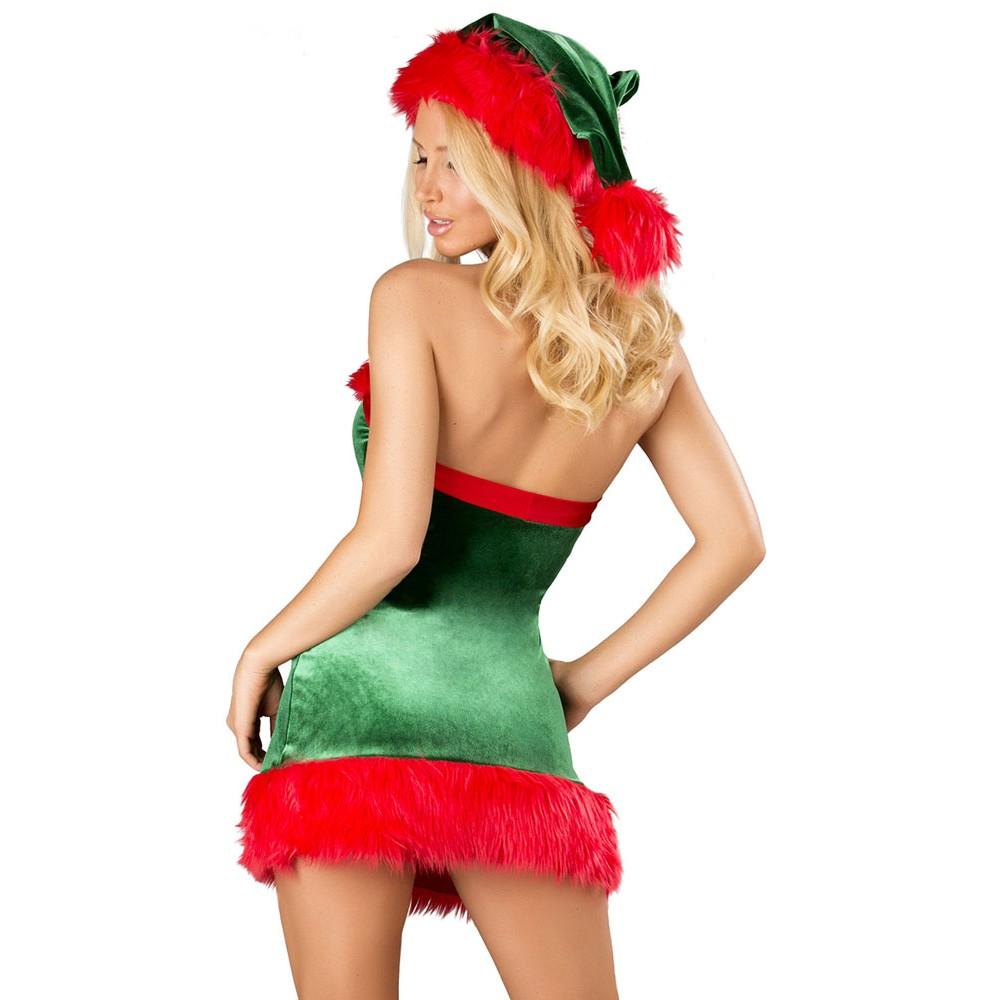 3Pcs Xmas Santa Envy Christmas Costume Set
