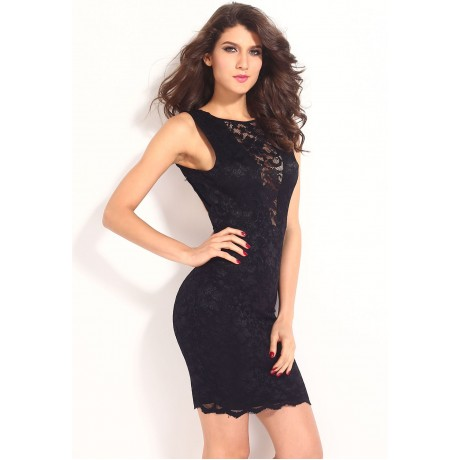 Adela Slinky Cowl Back Night Club Midi Dress