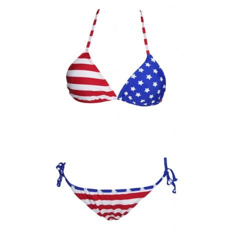 American USA Flag Two Pieces Bikini Set