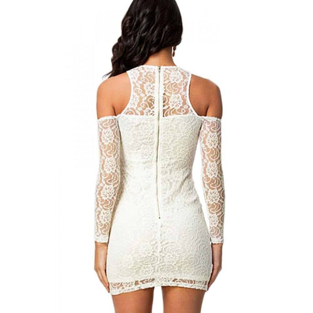 Angelic White Lace Mini Dress