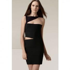 Sexy One Shoulder Women Bandage Dress Black