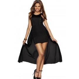 High Low Black Evening Dress