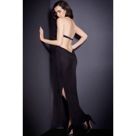 Black Cutout Twist Halter Maxi Dress