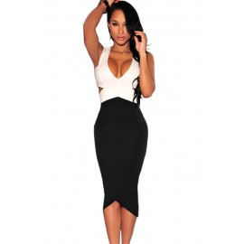 Black White Cut-Out Night Club Dress