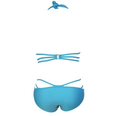 Blue Luxury Strappy Halter Bikini