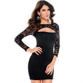 Body Loving Sexy styling Cut-out Bodycon Dress Black