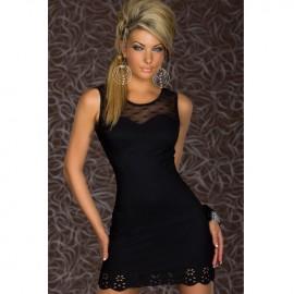Trendy Sweetheart Bodycon Dress Black