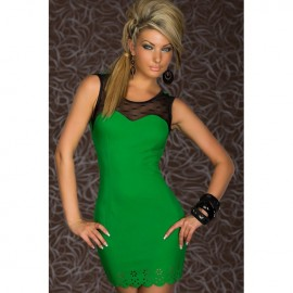 Trendy Sweet Heart Bodycon Dress Green