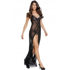 Bride to Be Black Sleepwear Gown Set
