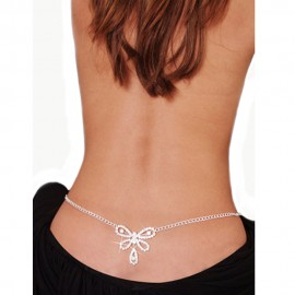 Butterfly Rhinestone Belly Waist Chain and Lower Back