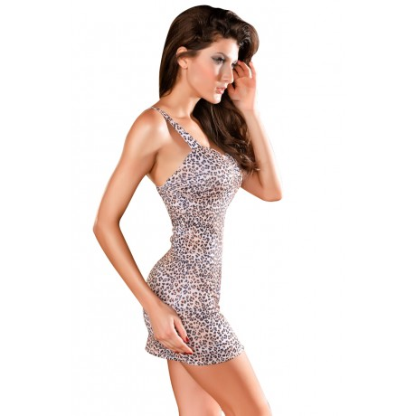 Calendar Girl Brown Leopard Print Mini Dress