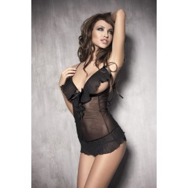 Caprice Set Chemise With G-String With Open Busts