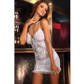 Charming Lover Chemise Lingerie With G-String White