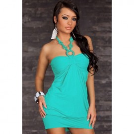 Bewitching Halter Club Dress Blue