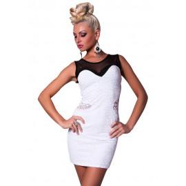 Night Club Queen Fashion Mini Dress Black And White