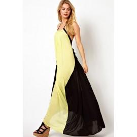 Leisure Color Blocked Maxi Dress