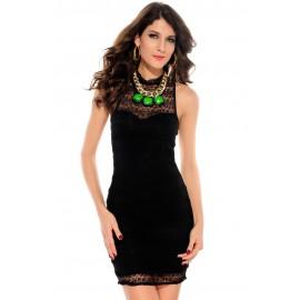 Cutout Back Slender Stretch, Bodycon Night Club Mini Dress Black