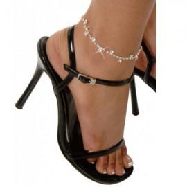 Rhinestone Daisy Ankle Bracelet