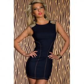 Stylish Skintight Denim Dark Blue Party Dress