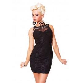 Top Lace Elegant Evening Mini Dress Black