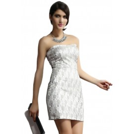 Silver Gray Floral Mini Dress