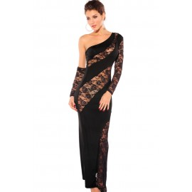 One Armed Diva Evening Dress Black