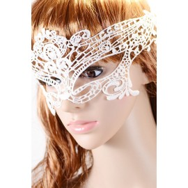 Fashion Masquerade Party White Lace Mask