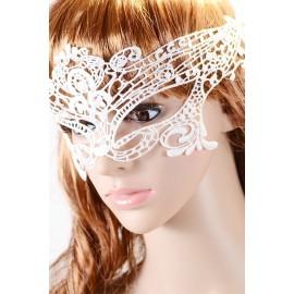 Masquerade White Lace Mask