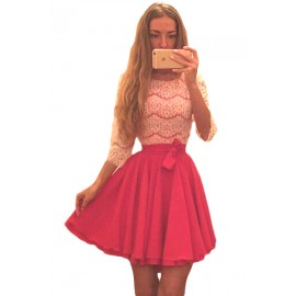 Lace Double Layed Skirt Dress