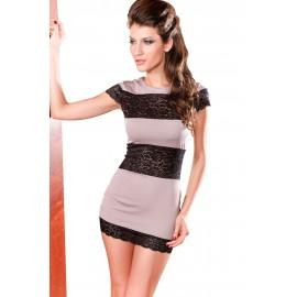 Half Lace Fashion Mini Dress