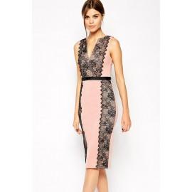 Lace Paneled Conscious Dress Pink
