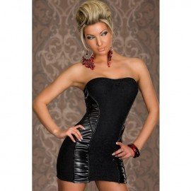 Bandeau Lace Sexy Bodycon Party Dress Black