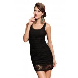 Lace Tank Black Club Mini Dress