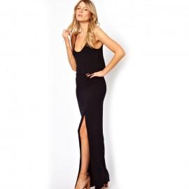 Love Crop Maxi Dress Black