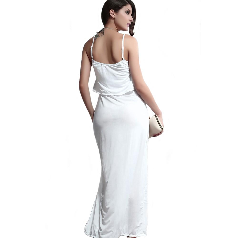 Love Crop Maxi Dress White
