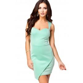 Mint Green Wrap Front Hem Bodycon Dress