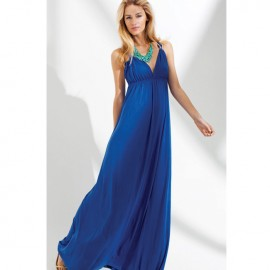 Cool Summer Sleeveless Party Maxi Dress Blue