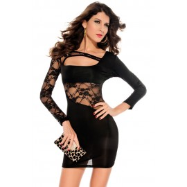 Personalized Tight Fitting Comfy Sexy Mini Dress Black
