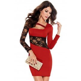 Tight Fitting Comfy Mini Dress Red