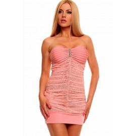 Bandeau Pink Mini Dress