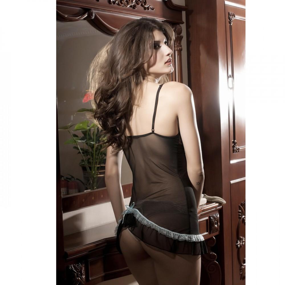 Farah Badydoll Lingerie With G-String Set Black