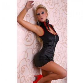 GOGO Extremely Body Hugging Vinyl Mini Dress