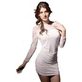 SEXY GOGO Fashion Mini Dress With G-String White