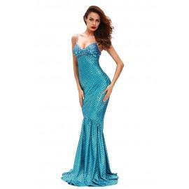 Blue Sea Gem Mermaid Costume
