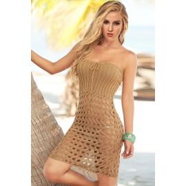 Sexy Beach Brown Crochet Hand Made Bikini Cover up