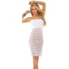 Sexy Beach White Crochet Hand Made Bikini Cover up