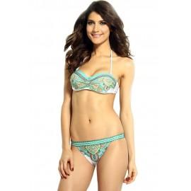Sexy Charming Paisley Bandeau Summer Bikini Set