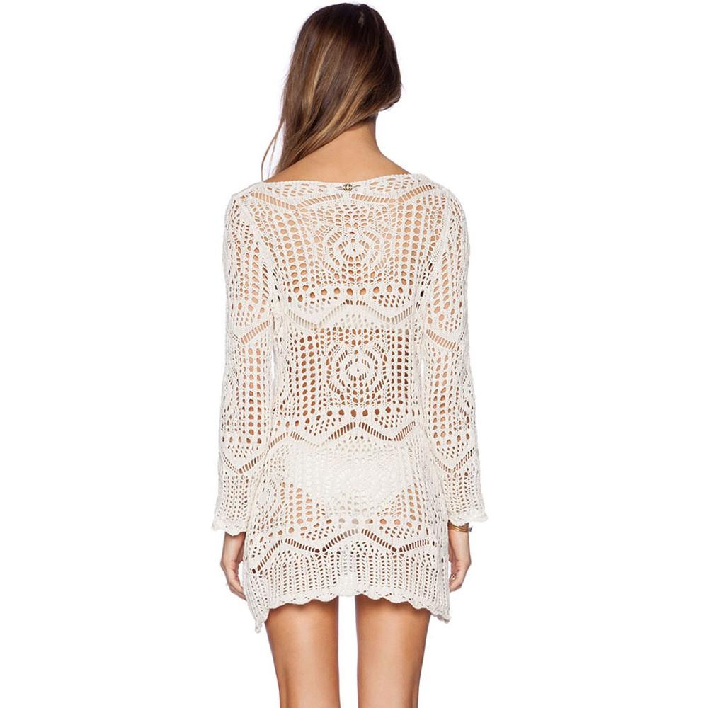 HOT Summer Handmade Crochet Bikini Beach Dress
