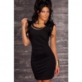 Quite Elegant Solid Bodycon Mini Dress Black