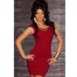 Quite Elegant Solid Bodycon Mini Dress Red